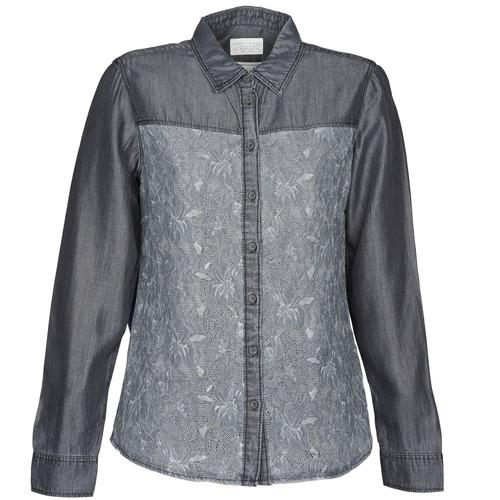 Clothing Women Shirts Esprit Denim Blouse Grey