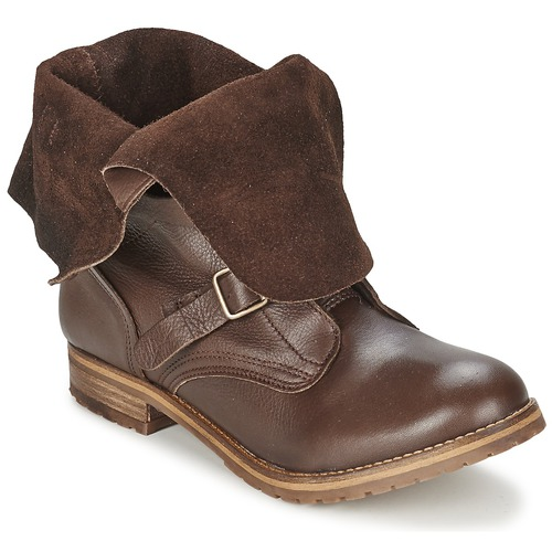 Shoes Women Mid boots Casual Attitude DISNELLE Brown