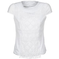Clothing Women short-sleeved t-shirts Alba Moda BLUSENTOP White