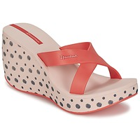 Shoes Women Mules Ipanema LIPSTICK STRAPS II Pink / Red