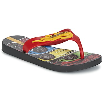 Shoes Boy Flip flops Ipanema HOT WHEELS TYRE Red / Black