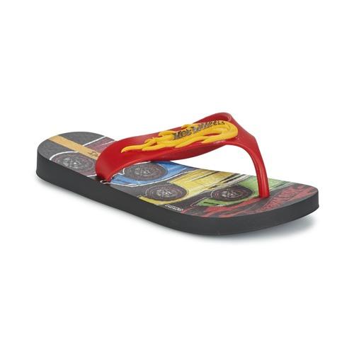 Shoes Boy Flip flops Ipanema HOT WHEELS TYRE Red / Black
