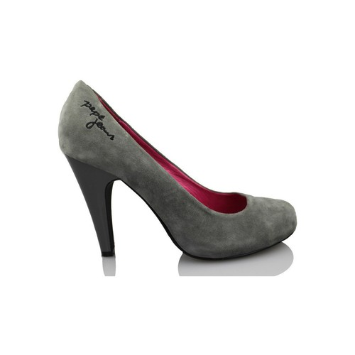 Shoes Women Heels Pepe jeans youth shoe heel GREY