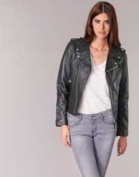 Clothing Women Leather jackets / Imitation leather Schott SIMOUDE Black