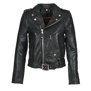 Clothing Women Leather jackets / Imitation leather Schott GUELINE Black