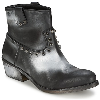 Shoes Women Mid boots Strategia SFUGGO Black / Silver