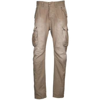 Clothing Men Cargo trousers Freeman T.Porter PUNACHO COTTON GAB CHOCOLATE CHIP Brown / BEIGE