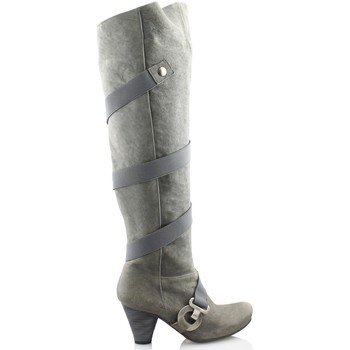 Shoes Women Thigh boots Gino Vaello OIL GREY