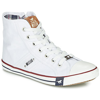 Shoes Women Hi top trainers Mustang GALLEGO White