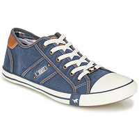 Shoes Men Low top trainers Mustang TIRON Jeans