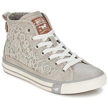 Shoes Women Hi top trainers Mustang JOSUNE Grey