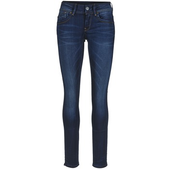 Clothing Women Skinny jeans G-Star Raw LYNN MID SKINNY MEDIUM / Aged / Slander / BLUE / SUPER / Stretch / DENIM