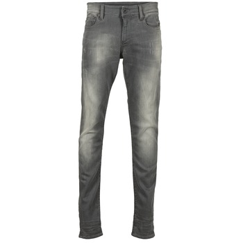 Clothing Men Skinny jeans G-Star Raw REVEND SUPER SLIM Light / Aged / Destroy / Slander / GREY / SUPER / Stretch