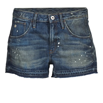 Clothing Women Shorts / Bermudas G-Star Raw ARC BF RIPPED SHORT WMN Blue / Dark