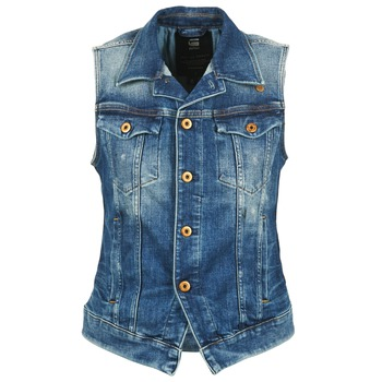 Clothing Women Denim jackets G-Star Raw 3302 JKT S/LESS WMN Blue / Clear