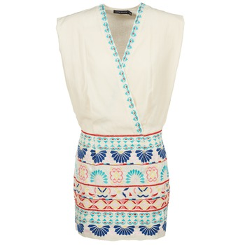 Clothing Women Short Dresses Antik Batik POLIN White / Multicoloured
