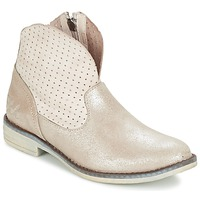 Shoes Girl Mid boots Ikks CINDY Silver