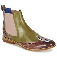 Shoes Women Mid boots Melvin & Hamilton AMÉLIE 5 Green / Pink / BEIGE