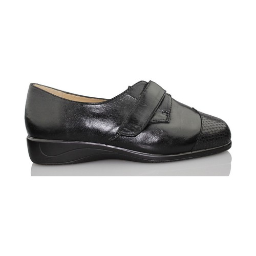 Shoes Women Derby Shoes Drucker Calzapedic JUNGLE SNAKE BLACK