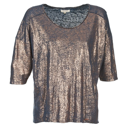 Clothing Women Short-sleeved t-shirts Miss Sixty FOX Marine / Gold