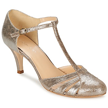 Shoes Women Heels Jonak LAURAIA Gold / Taupe