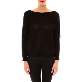 Clothing Women Jumpers De Fil En Aiguille Pull Galina noir Black