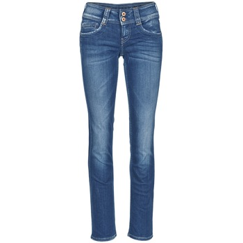 Clothing Women straight jeans Pepe jeans GEN Blue