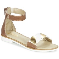 Shoes Girl Sandals Citrouille et Compagnie MINIMAZA White / Silver
