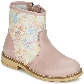 Shoes Girl Mid boots Citrouille et Compagnie OUGAMO LIBERTY Pink / Flowercolor