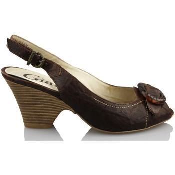 Shoes Women Sandals Giana Di Firenze GIANNA DI FIRENZE ETRUSCO BROWN