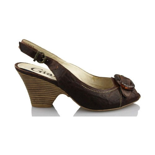 Shoes Women Sandals Giana Di Firenze GIANNA DI FIRENZE ETRUSCO BROWN