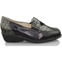 Shoes Women Loafers Sana Pies HEALTHY FEET comfortable patent leather loafers BLACK