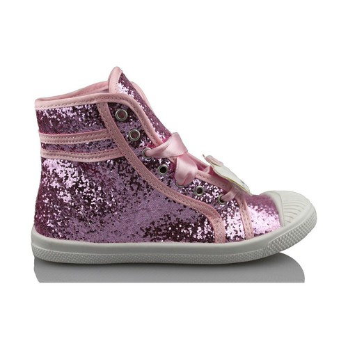 Shoes Girl Hi top trainers Hello Kitty CAMOMILLA MILANO GLIPPER PINK