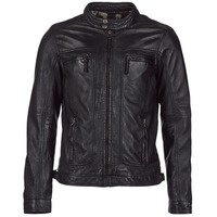 Clothing Men Leather jackets / Imitation leather Oakwood CASEY Black