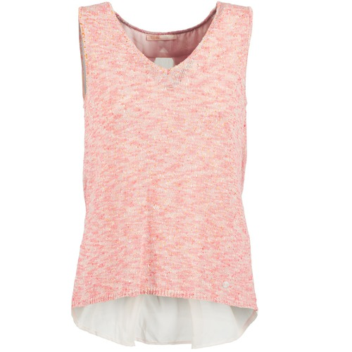 Clothing Women Tops / Sleeveless T-shirts Les Petites Bombes NODOLA Coral