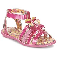 Shoes Girl Sandals Catimini CALANDRITE Fuschia