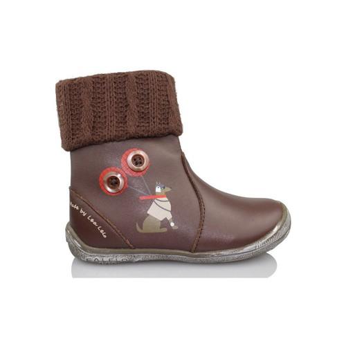 Shoes Girl Ankle boots Lea Lelo LEA LEO DRESSY TESTA DI M BROWN
