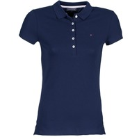 Clothing Women short-sleeved polo shirts Tommy Hilfiger NEW CHIARA MARINE