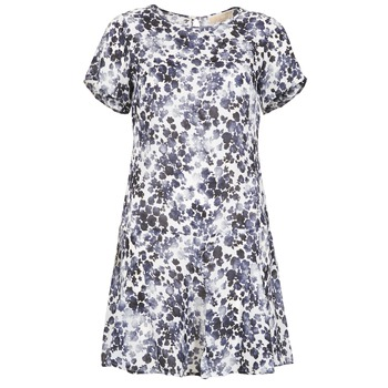 Clothing Women Short Dresses MICHAEL Michael Kors MS68VFH416 MARINE / White