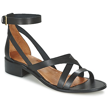 Shoes Women Sandals Casual Attitude COUTIL Black