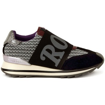 Shoes Women Low top trainers Fornarina BLACK SILVER MESH     77,9