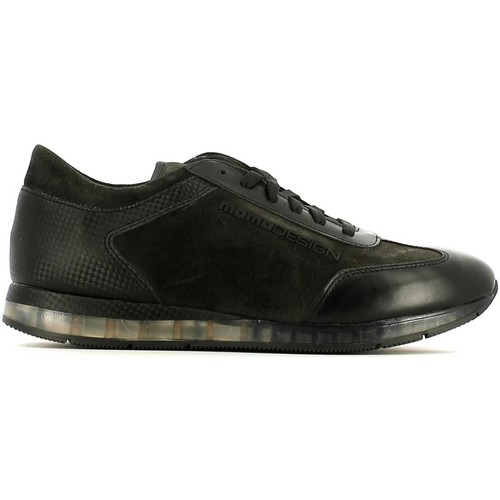 Shoes Men Low top trainers Momo Design ME81 Sneakers Man Anthracite Anthracite