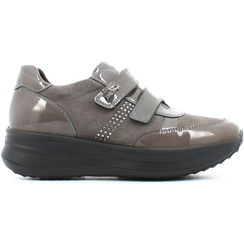 Shoes Women Walking shoes Enval 4992 Scarpa velcro Women Taupe Taupe