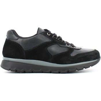 Shoes Men Low top trainers Keys 3116 Shoes with laces Man Black Black