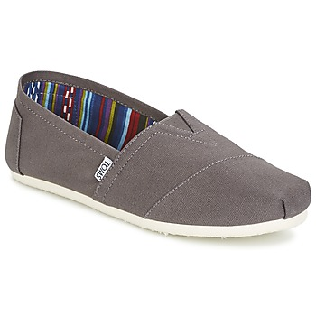 Shoes Men Slip ons Toms CLASSICS Grey