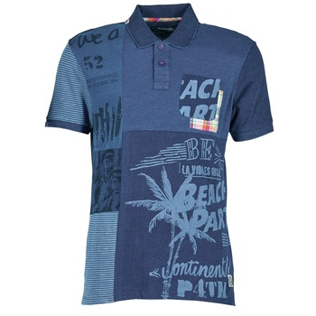 Clothing Men short-sleeved polo shirts Desigual BELUDINE Blue
