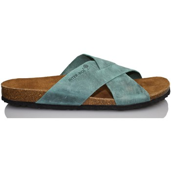 Shoes Men Mules Interbios S  AQUILES 9509 BLUE