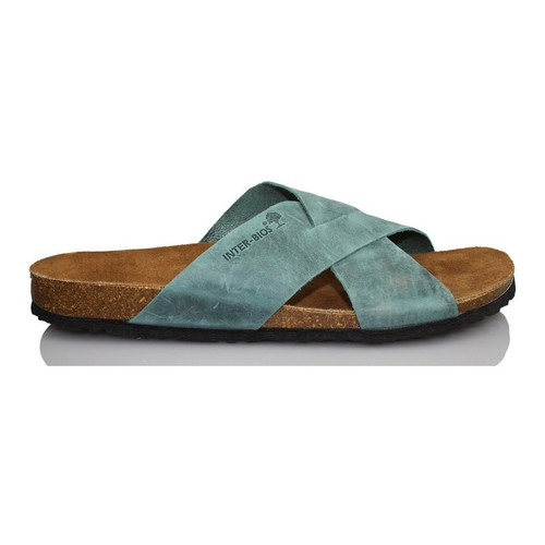 Shoes Men Mules Interbios Very comfortable sandal man BLUE