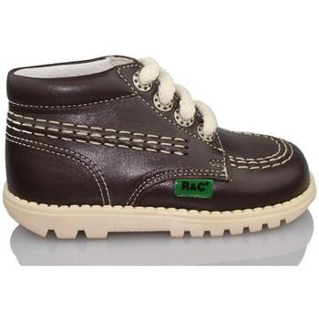 Shoes Boy Mid boots Rubio Y Castaño RUBIO Y CASTANO NAPA RALLYA BROWN