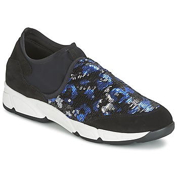 Shoes Women Slip ons Meline LEO Black / Blue